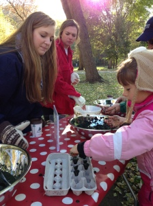 2013 MADD volunteers got creative making bird feeders, seed packets and seed bombs.